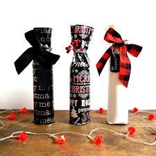 wine bottle christmas ideas wine bottle wrap christmas edition northstory