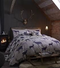 grampian stag 100 brushed cotton warm festive christmas bedding