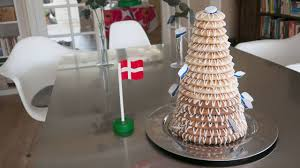 danish celebration cake horn of plenty marzipan tower