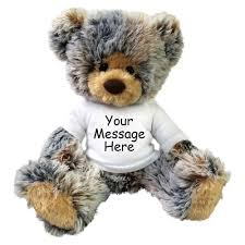 engraved teddy bears personalized teddy plush brindle mandys moon