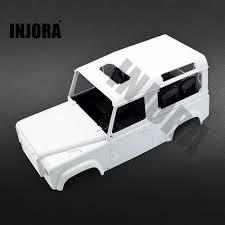 land rover defender white hard plastic rc rock crawler 1 10 land rover defender d90 car