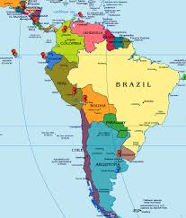 Sur America Map by Oxygen Group Photography Central U0026 South America