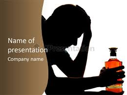 alcoholism despair drinking powerpoint template id 0000040398