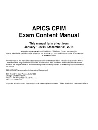 exam content manual pdf supply chain management strategic