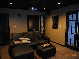 Black Leather Small Home Theater Rooms Handmade Shocking Premium Material Wonderful Decoration Transparant Window