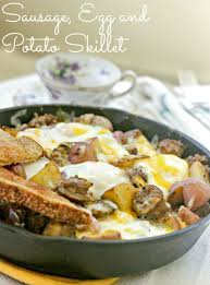 dinner egg recipes sausage egg and potato skillet clever housewife