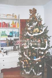 cotton ball garland tutorial jaderbomb
