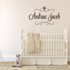 baby name decals religious wall decals cross name decal boy baby name decals religious wall decals cross name decal boy nursery decor