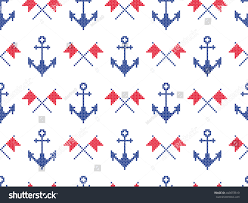 nautical flag nautical symbols anchors signal flags background stock vector