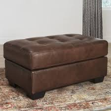 Noah Tufted Storage Ottoman Leather Ottomans You U0027ll Love Wayfair