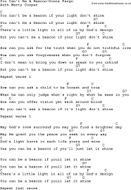 Blind To You Lyrics Country Southern And Bluegrass Gospel Song You Can U0027t Be A Beacon