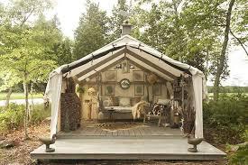 wooden tent canvas wall tents