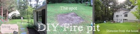 Starting A Fire Pit - diy fire pit