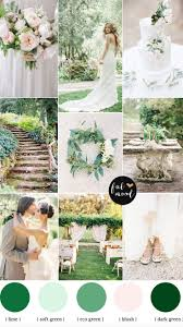 color palette ideas natural garden wedding theme shades of green blush white