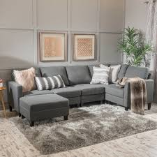 Gold Fabric Sofa Zahra 6 Piece Fabric Sofa Sectional With Ottoman By Christopher