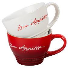 le creuset bistro mug with bon appetit script pg8014ba 11 j l