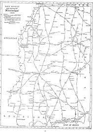 County Map Of Mississippi P Fmsig 1948 U S Railroad Atlas