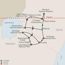 Lake Victoria Map Map Kenya U0026 Tanzania The Safari Experience With Nairobi 2017