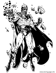 x men bad guy magneto coloring pages printable