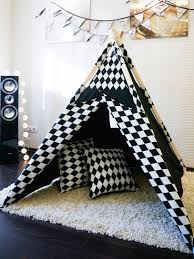kids teepee tent play house alice in wonderland with poles