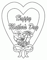 mother day coloring page for kids coloring pages printables free