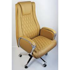 Real Leather Office Chair Beige Genuine Hide Real Leather Executive Office Chair Cha 1202a
