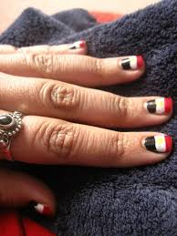 British Flag Nails Egyptian Flag Nails A Flag On A Nail Nail Painting On Cut Out