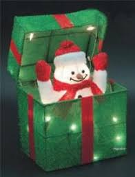 indoor lighted gift boxes animated snowman gift box lighted tinsel indoor outdoor christmas