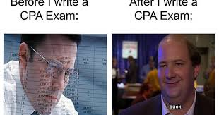 Cpa Exam Meme - before and after you write a cpa exam accounting