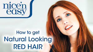 at home hair dye how to get a natural red hair colour nice u0027n
