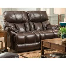 mammoth 747 leather reclining sofa in chocolate sofas and sectionals
