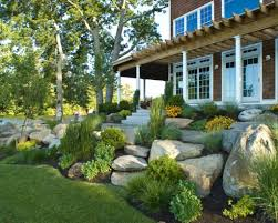 garden stunning rock landscaping ideas for front yard rock