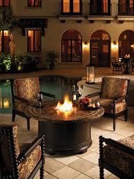 Fire Patio Table by Exterior Interesting Outdoor And Indoor Furniture Design With