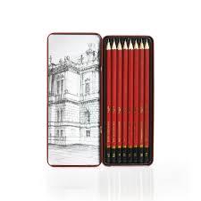 wilko sketching pencils in case assorted grades 8pk at wilko com