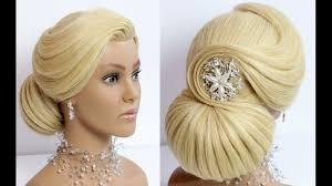 elegant bun hairstyle for long hair wedding prom updo makeup