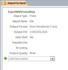 print to excel file export current record from access via vba
