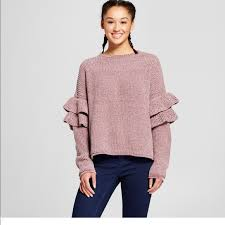 sweater target 20 mossimo supply co sweaters target chenille ruffle sleeve