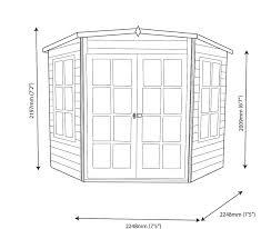 hampton wooden corner summerhouse 10 x 10 what shed