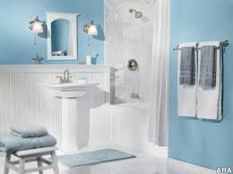 Bathroom With Wainscoting Ideas by Bathroom Comfortable Bathroom Design Light Blue Wall Color Ideas