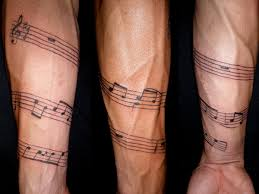 outline star and music tattoos on arm for guys in 2017 real photo