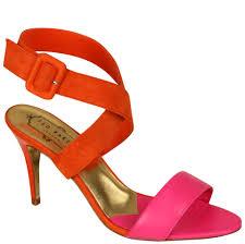 ted baker women u0027s jolea heeled sandals orange pink suede and