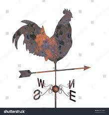 Bull Weathervane Rusty Weather Vane On White Background Stock Illustration 48239092