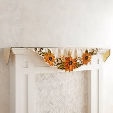thanksgiving mantel sunflowers mantel scarf seasonal u0026 gifts u003e fall u0026 thanksgiving