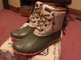 womens boots size 9 ebay sperry top sider saltwater duck boots womens size 9 taupe