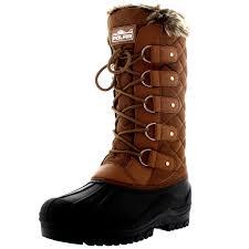 boots uk waterproof womens faux fur tactical mountain waterproof knee high walking