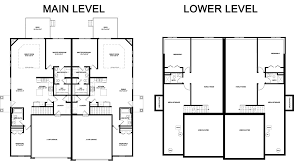 Charleston Floor Plan by Charleston Duplex Floorplan Hubbell Homes Building New Homes