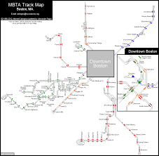 Subway Map Boston by World Nycsubway Org Mbta Rapid Transit Track Map