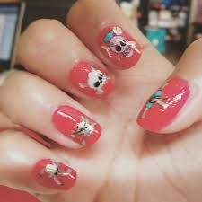 hello kitty inspired nails using a bobby pin easy cute simple and