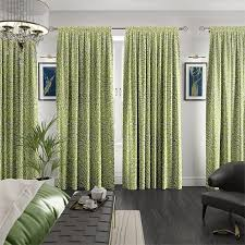 apple green curtains