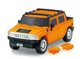 New Hummer H2 3d Car Puzzle Hummer H2 Orange 70 Piece R1905 F S Ebay